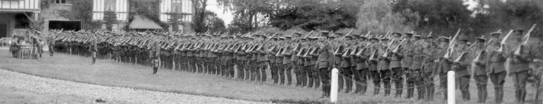 Leicestershire Yeomanry on inspection, Oct 1914.